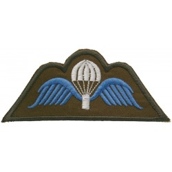Belgian Parachute 'A' Wing On Khaki  Embroidered Parachute jump wings or badge
