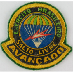Brazil Army Free-Fall Advanced Badge Colour  Printed Parachute jump wings or badge