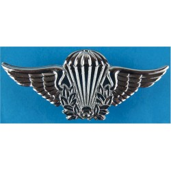 Brazil Parachute Wings - Enlisted New Series  Chrome-plated Parachute jump wings or badge