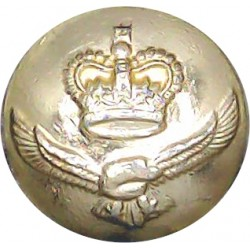 Royal Army Dental Corps 19mm - Gold Colour with King's Crown. Anodised Staybrite military uniform button
