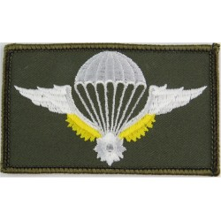 Cambodia Basic Parachute Wings White/Gold On Green  Embroidered Parachute jump wings or badge