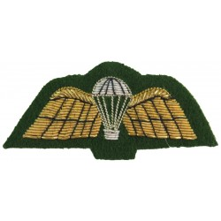 UK Army Parachute Wings - Intelligence Corps Mess Kit - On Green  Bullion wire-embroidered Parachute jump wings or badge