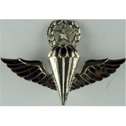 Republic Of Korea Navy Master Parachute Wings (South Korea)  Chrome-plated Parachute jump wings or badge
