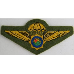 Republic Of South Africa Police Parachute Wings Field Dress  Embroidered Parachute jump wings or badge