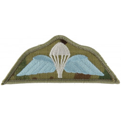 UK Army Parachute Wings - Colour On MTP Camouflage On Velcro  Embroidered Parachute jump wings or badge