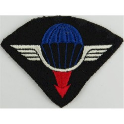 France - Air Delivery Group Parachute Wings - GLA Colour On Black  Embroidered Parachute jump wings or badge
