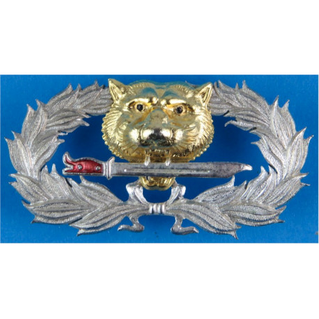 Thailand Ranger Badge (Tiger With Bayonet In Wreath)   Silver-plate and gilt Airborne or Special Forces insignia