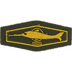 German Combat Swimmer / Mine Clearance Diver Class 1 Gold On Olive  Embroidered Airborne or Special Forces insignia