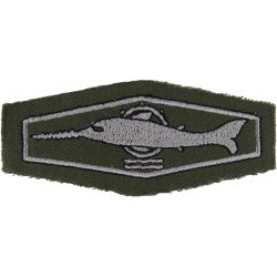 German Combat Swimmer / Mine Clearance Diver Class 2 Silver On Olive  Embroidered Airborne or Special Forces insignia