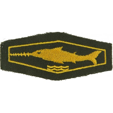 German Combat Swimmer / Scuba Diver Class 1 Gold On Olive  Embroidered Airborne or Special Forces insignia