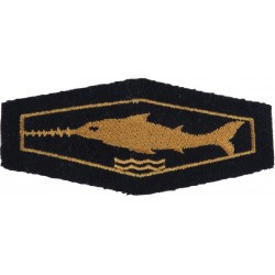 German Combat Swimmer / Scuba Diver Class 3 Bronze On Navy Blue  Embroidered Airborne or Special Forces insignia