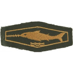 German Combat Swimmer / Scuba Diver Class 3 Bronze On Olive  Embroidered Airborne or Special Forces insignia