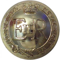 284th (Norfolk Yeomanry) LAA Regt Royal Artillery 26mm - Gold Colour with Queen Elizabeth's Crown. Anodised Staybrite military u