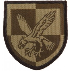 16 Air Assault Brigade - Eagle On Quartered Shield Mid Brown On Sand  Woven Military Formation arm badge