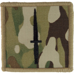 3 Commando Brigade (Black Dagger On MTP Camouflage)   Embroidered Military Formation arm badge