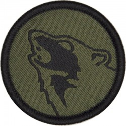104 Logistic Support Brigade (Timber Wolf) Subdued On Olive  Woven Military Formation arm badge