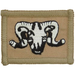 1st Artillery Brigade (Ram's Head On Sand Rectangle Desert Issue  Embroidered Military Formation arm badge
