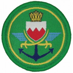 Bahrain Defence Force On Velcro  Woven Military Formation arm badge