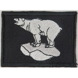 49 Brigade (Polar Bear FL Head-Up - White On Black) 1994 Pattern - Large  Embroidered Military Formation arm badge