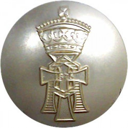 Yorkshire Regiment (14th/15th, 19th & 33rd/76th) 26mm - Gold Colour  Anodised Staybrite military uniform button