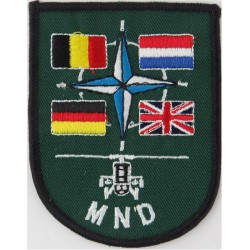Multi-National Division (Central)  NATO, UK, Belgium Germany, Netherlands  Embroidered Military Formation arm badge