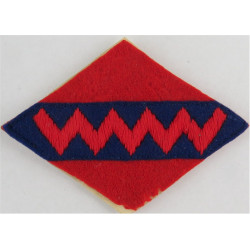 1st Canadian Army Group Royal Artillery Zig-Zag On Blue/ Red  Embroidered Military Formation arm badge