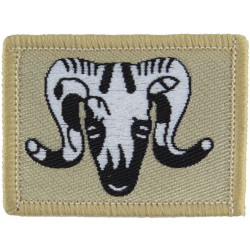 1st Artillery Brigade (Ram's Head On Sand Rectangle Desert Issue  Woven Military Formation arm badge
