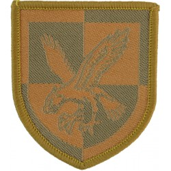 16 Air Assault Brigade - Eagle On Quartered Shield Sand On Sand Desert  Woven Military Formation arm badge
