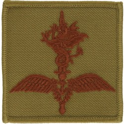 Commando Helicopter Force Brown On Sand  Embroidered Military Formation arm badge