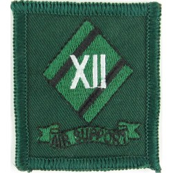 12 (Air Support) Engineer Group   Embroidered Military Formation arm badge