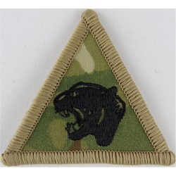 19 Light Brigade (Black Panther's Head On Triangle) On MTP Camouflage  Embroidered Military Formation arm badge
