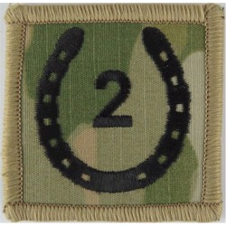 2 (National Communications) Signal Brigade (MTP Camo Black 2 In Horseshoe  Embroidered Military Formation arm badge