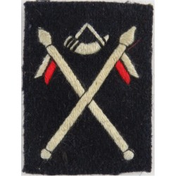 60th Indian Infantry Brigade Bugle/Crossed Lances  Embroidered Military Formation arm badge