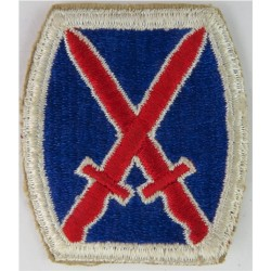10th Infantry Division Colour  Embroidered US Army shoulder sleeve insignia - SSI