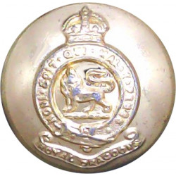 Royal Dragoons (1st Dragoons) 18.5mm - Gold Colour with King's Crown. Anodised Staybrite military uniform button