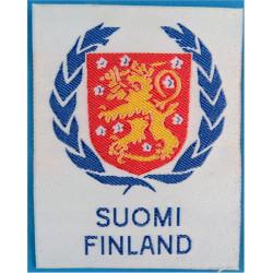 Arm-Badge - Suomi Finland   Woven United Nations insignia