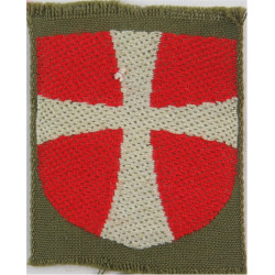 Arm-Flag - Danish Troops White & Red On Khaki  Woven United Nations insignia