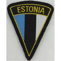 Arm-Badge - Estonia   Woven United Nations insignia