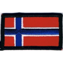 Arm-Flag - Norway 60mm X 36mm  Embroidered United Nations insignia