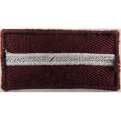 Arm-Flag - Latvia 49.5mm X 25mm  Embroidered United Nations insignia