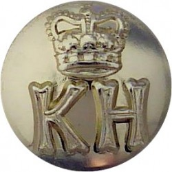 Royal Military School Of Music (Kneller Hall) 14mm - Gold Colour with Queen Elizabeth's Crown. Anodised Staybrite military unifo