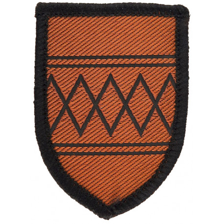 Army Cadet Force: West Midlands North Brown Shield  Woven Cadet, training or school insignia