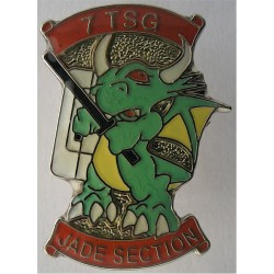 Royal Ulster Constabulary - 7 TSG - Jade Section Tie-Tack Pin Badge  Enamel Lapel or sweet-heart badge
