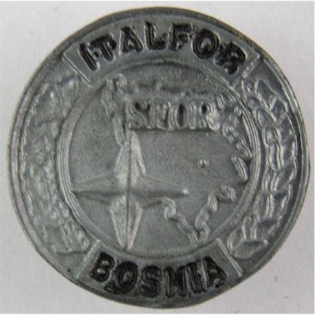 Italfor Bosnia SFOR Pin-Badge - Italian Forces (Worn On Combat Kit)  Enamel Lapel or sweet-heart badge