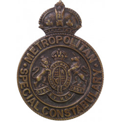 Metropolitan Special Constabulary - Constable  with King's Crown. Bronze Lapel or sweet-heart badge