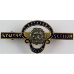 British Legion Women's Section - Pre-1971 - Bar Type Serial Numbered  Gilt and enamel Lapel or sweet-heart badge