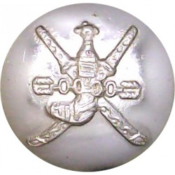 Oman - Royal Guard Of Oman - Pre-1990 23.5mm - Gold Colour Anodised Staybrite military uniform button