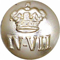 4th/7th Royal Dragoon Guards 17.5mm - Gold Colour  Anodised Staybrite military uniform button