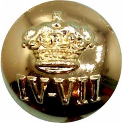 4th/7th Royal Dragoon Guards 19.5mm - Gold Colour  Anodised Staybrite military uniform button