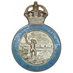 Royal Observer Corps - 1941-1952 Lapel Badge with King's Crown. Enamel Lapel or sweet-heart badge